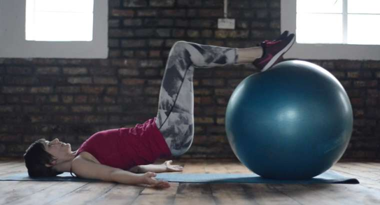 Curl con fitball