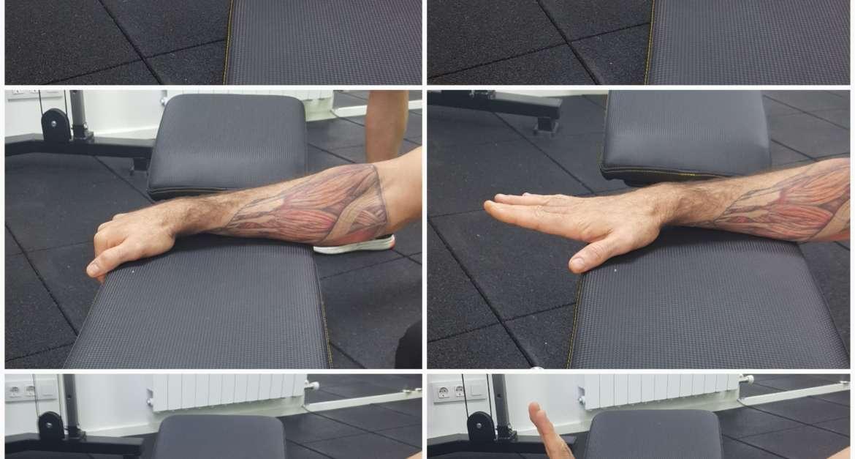 Extensión de los dedos