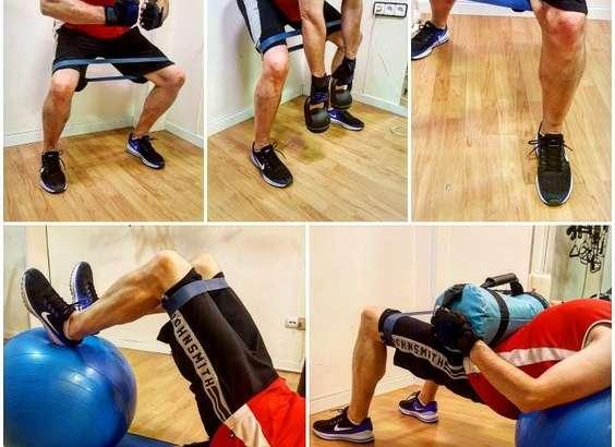 Rotadores externos de cadera, valgo y esguince