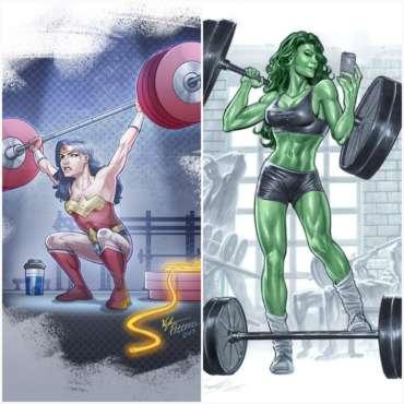 Mujer y pesas