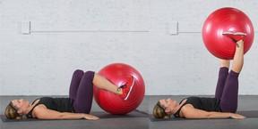 Extensión de rodilla con fitball