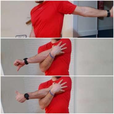 Estiramientos de hombros